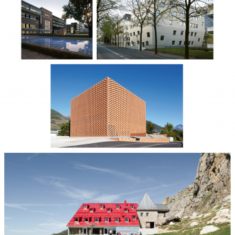 Collage Architektur Südtirol